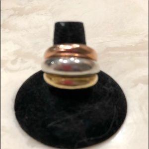Michael Kors tri color ring